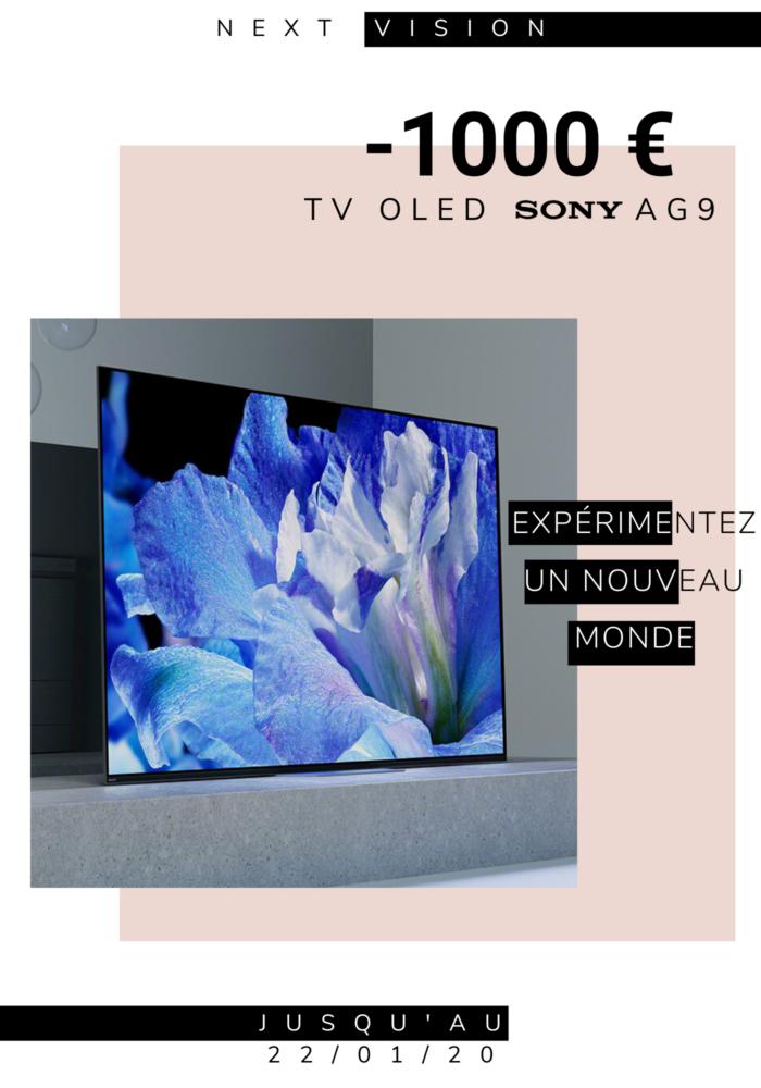 Next Vision_Promotion TV OLED Sony AG9_jusqu'au 22.01.2020